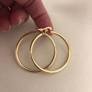 18k Gold Filled Tube Hoop Earrings